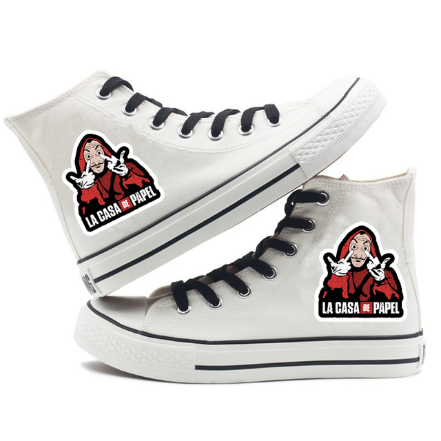 LA CASA DE PAPEL HIGH TOP SHOES (14 VARIAN)