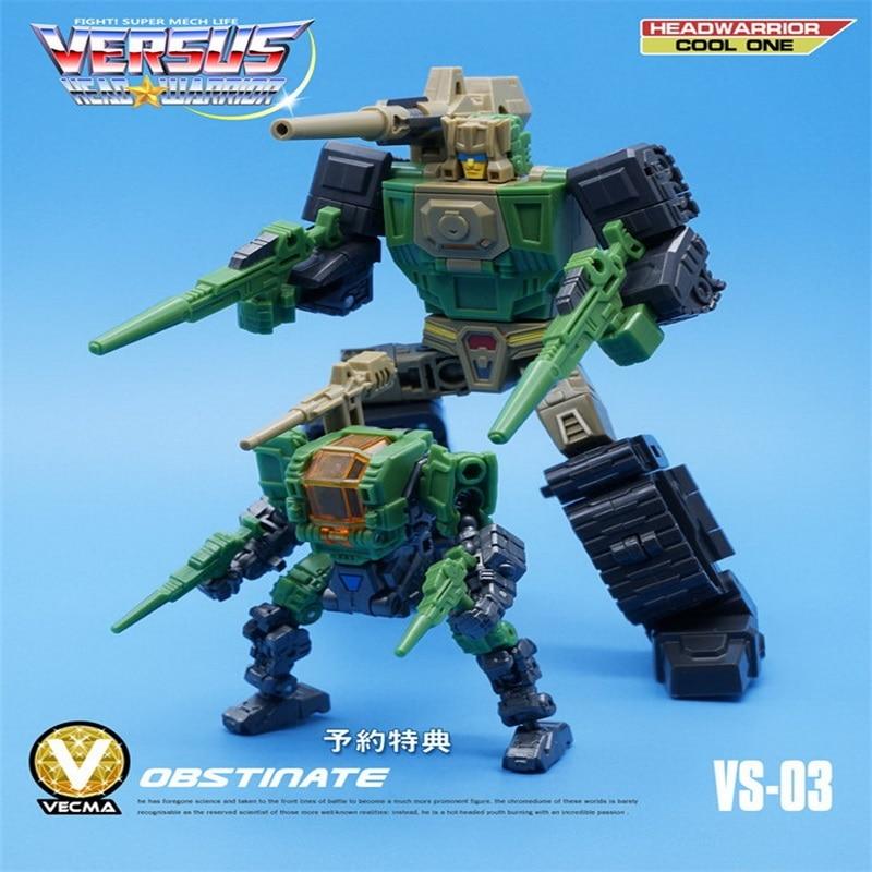 "Vecma Studio Head Werrior MFT VS-01 Headmaster Chromedome Action Figure 4.7/"" Toy"