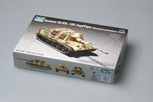 Trumpeter 1/72 07254 German Sd.kfz.186 Jagdtiger Henschel production Tank destroyer Military Toy Plastic Assembly Model Kit 1 72 assembly tank model sherman challenger diy puzzle plastic assembly free assemble military model