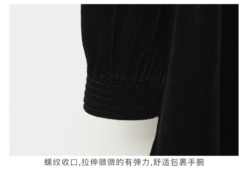 Teenage Kids Girls Winter Dress Fleece 2019 New Baby Girl Autumn Dress Black Kids Casual Dress Girl Children Top Toddler Dresses (2)