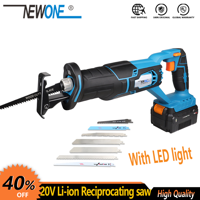 20V Cordless Lithium Battery Reciprocating Saw Wood metal Cutting Saw Saber Saw Portable Max  4 0Ah Battery Woodwoking  blades