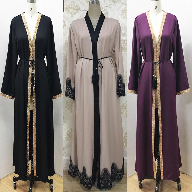 Мусульманская одежда, исламские одежда Abaye Дубай, Турция Кафтан Marocain Малайзия Бангладеш кардиган халаты