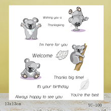 AZSG Cute little koala bear Clear Stamps For DIY Scrapbooking/Card Making/Album Decorative Rubber Stamp Crafts