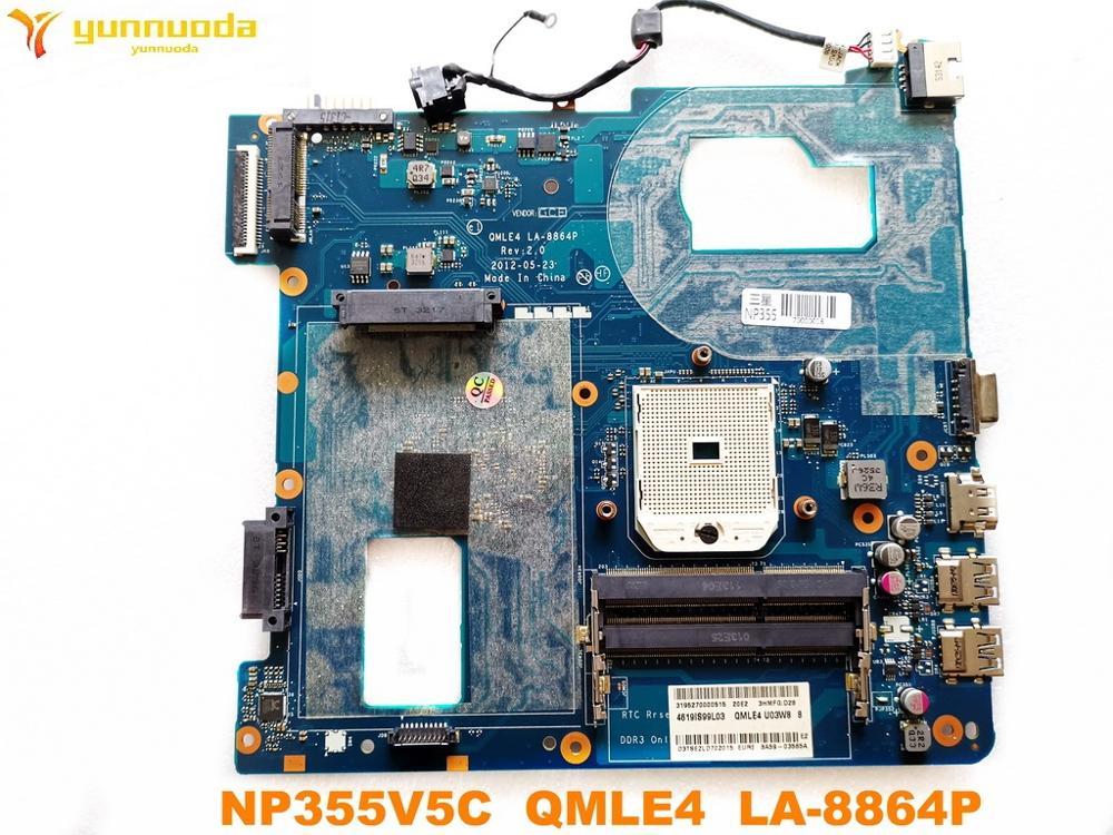 Original For Samsung NP355V5C Laptop Motherboard  NP355V5C QMLE4  LA-8864P  Tested Good Free Shipping