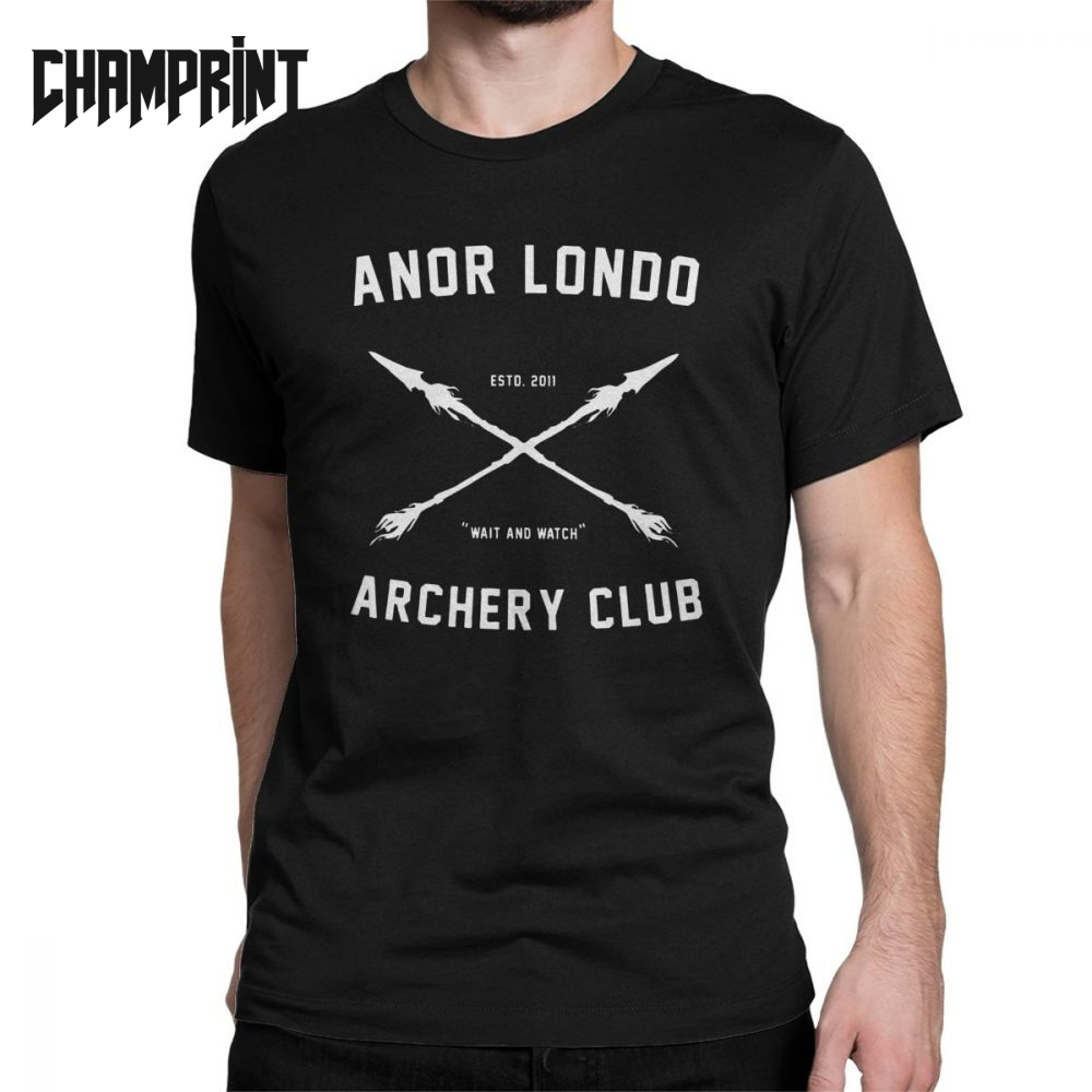 Awesome Dark Souls Anor <font><b>Londo</b></font> Archery Club T-Shirts for Men Crewneck Cotton T Shirt Short Sleeve Tees Gift Idea Clothing image