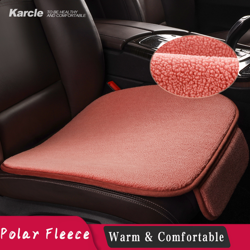 Karcle Polar Fleece Car Seat Cover Set Front Rear Auto Seat Cushion Seat Protector Mat Pad Automobile Accessories