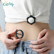 Stilvolle T Shirt Bottom Clips Mode Glitter Stück Schal T Seide Hemd Clip Ring Reise Dekorative Schals Schnalle(China)