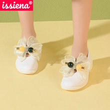 Shoes Butterfly-Knot Girls Casual-Size Children's Summer PU ISSIENA for 28-39 Hook Loop