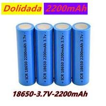 Icr18650 bateria litowa 2200 mah 3.7 v akumulator litowo-jonowy pkcell 18650 baterie płasko zakończony batteria