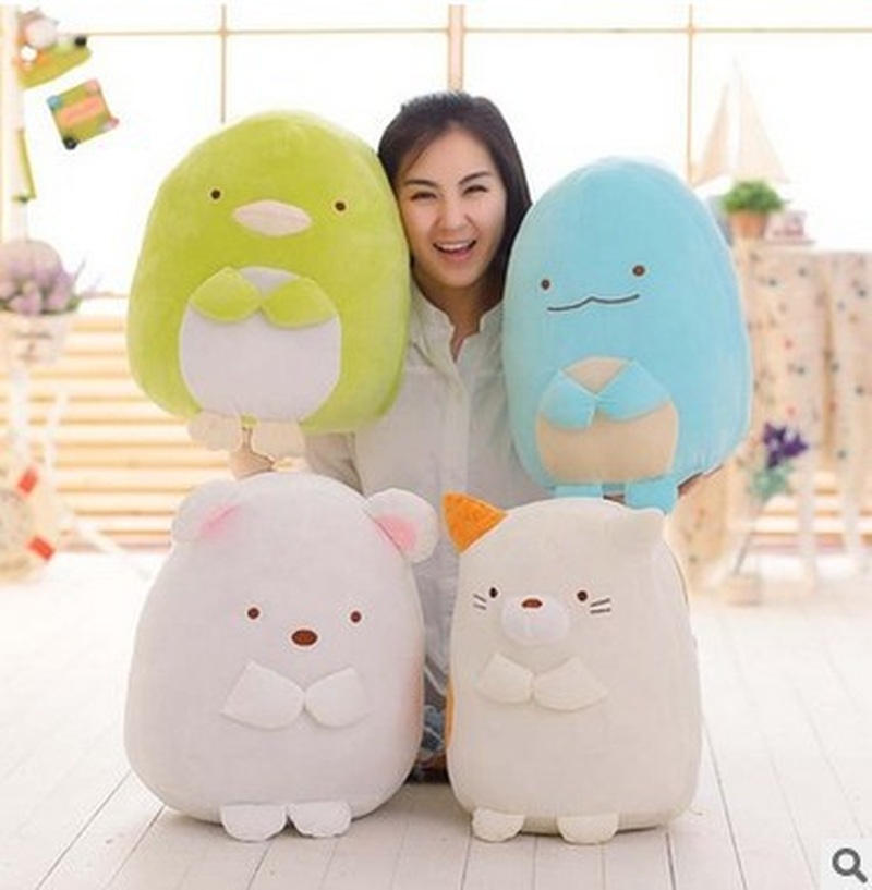 Japanese Sumikko Gurashi San-X Corner Bio Plush Soft Toys Stuffed Animal Sleeping Pillow Cushion Cartoon Anime Doll For Children