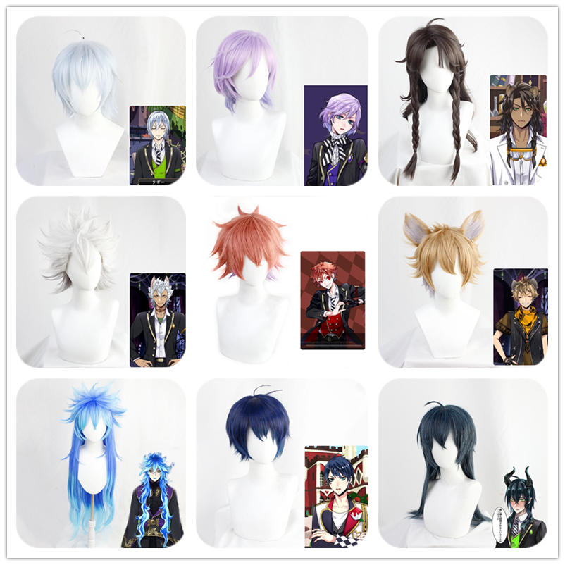 Twisted-Wonderland  Vil Lilia Vanrouge Jack Ruggie Azul Shroud Rook Epel Ace Cosplay Wig Hairpiece Adult Hair Bangs Hair Periwig