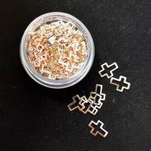 1 коробка розовое золото украшения для ногтей в форме сердца
