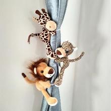 1 пара занавес с изображением животных пряжка милая штора завязывается