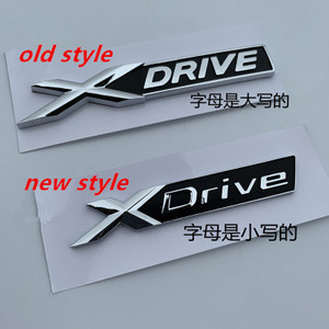 New XDrive Old XDRIVE Fender Trunk Emblem Badge For BMW X1 X3 X4 X5 X6 X7 Car Styling Discharging Capacity Sticker