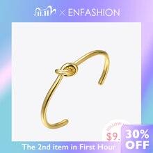 Enfashion atacado nó manguito pulseiras cor do ouro manchette pulseira para mulheres braçadeira moda jóias pulseiras b4286