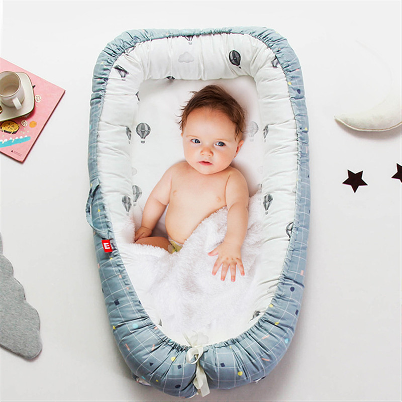 90*55cm Portable Baby Crib Nursery Travel Folding Baby Bed Nest For Girls Boys Baby Lounge Newborn Baby Bassinet Bumper
