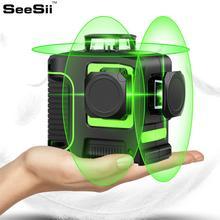 все цены на 12Lines 3D Green Laser Level Self-Leveling 360 degre Horizontal & Vertical Cross Powerful Outdoor can use Detector онлайн