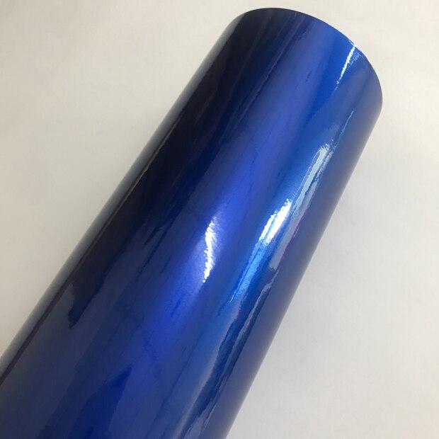 Синий глянцевый металлический блеск виниловая Автомобильная наклейка транспортное средство, Мопед автомобильные обертывания глянцевые конфеты металлическая виниловая пленка без пузырей - Название цвета: Blue