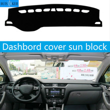For SKODA Rapid Spaceback 2014-2019 Dashboard Cover Sun Shade Non-slip Dash Mat Pad Carpet Car Stickers Interior Accessories car dashboard cover for toyota noah voxy 2014 2019 right hand drive auto sun shade dash mat dash pad carpet anti uv non slip 1pc