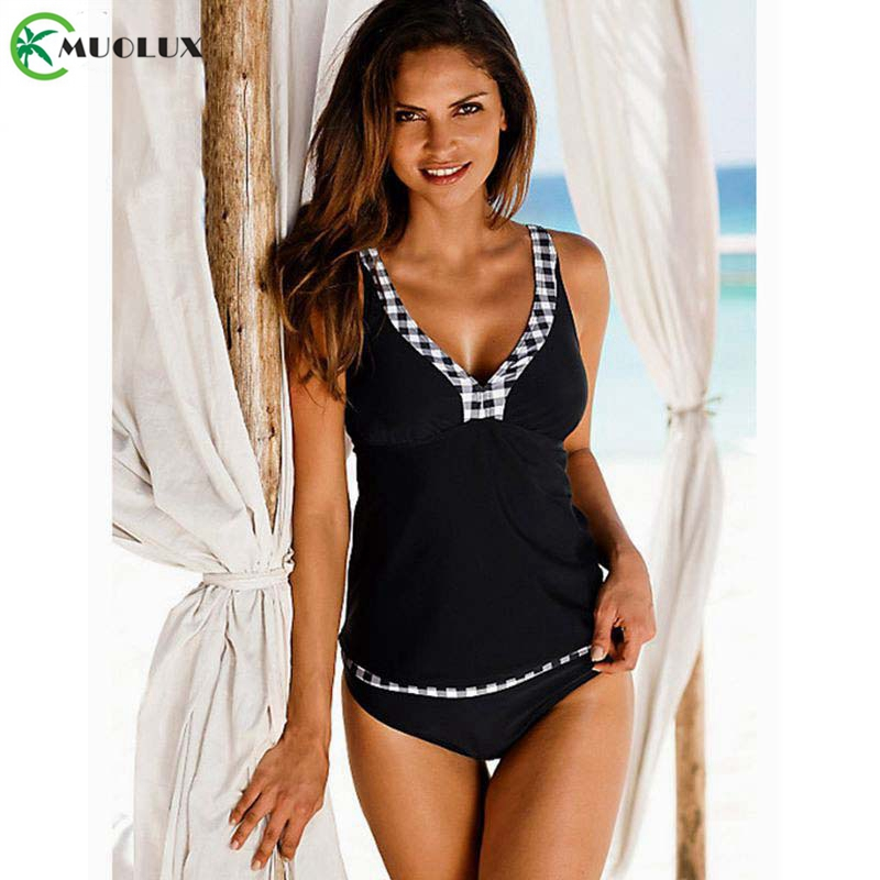 2019 Sexy Bikinis Female Swimsuit Tankini Swimsuit Women Swimwear Plus Size Striped Vintage Backless Bathing Suit Swimming XXL