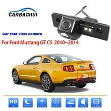 Para ford mustang gt cs 2010 2011 2012 2013 2014 visão traseira do carro sem fio invertendo camer ccd hd visão noturna completa à prova dwaterproof água