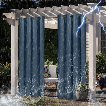 Pergola-cortina impermeable para exteriores, para jardín, Patio, para oscurecer completamente, dormitorio, sala de estar, Baño