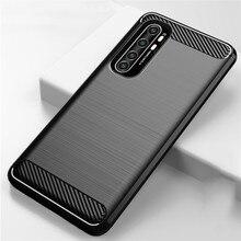Carbon Fiber Shockproof Case For Xiaomi Mi Note 10 Lite Case Soft Silicone TPU Back Cover For Mi Note 10 Pro Mi 10 Pro Mi10