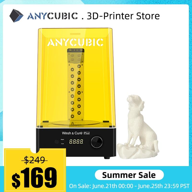 ANYCUBIC мыть, чтобы было удобнее лечить плюс для 3d принтера Стиральная модель и отверждения модель «2 в 1» для ЖК-дисплей 3d принтер impressora 3d