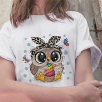 Fashion Trend New T-shirt Cute Owl Graphic Printed Female T shirt Casual Harajuku Crew Neck Ladies Tshirt 1