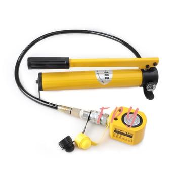 цены Thin Type Hydraulic Cylinder FPY-101 Hydraulic Lifting Jack with CP-180 Hydraulic Manual Pump