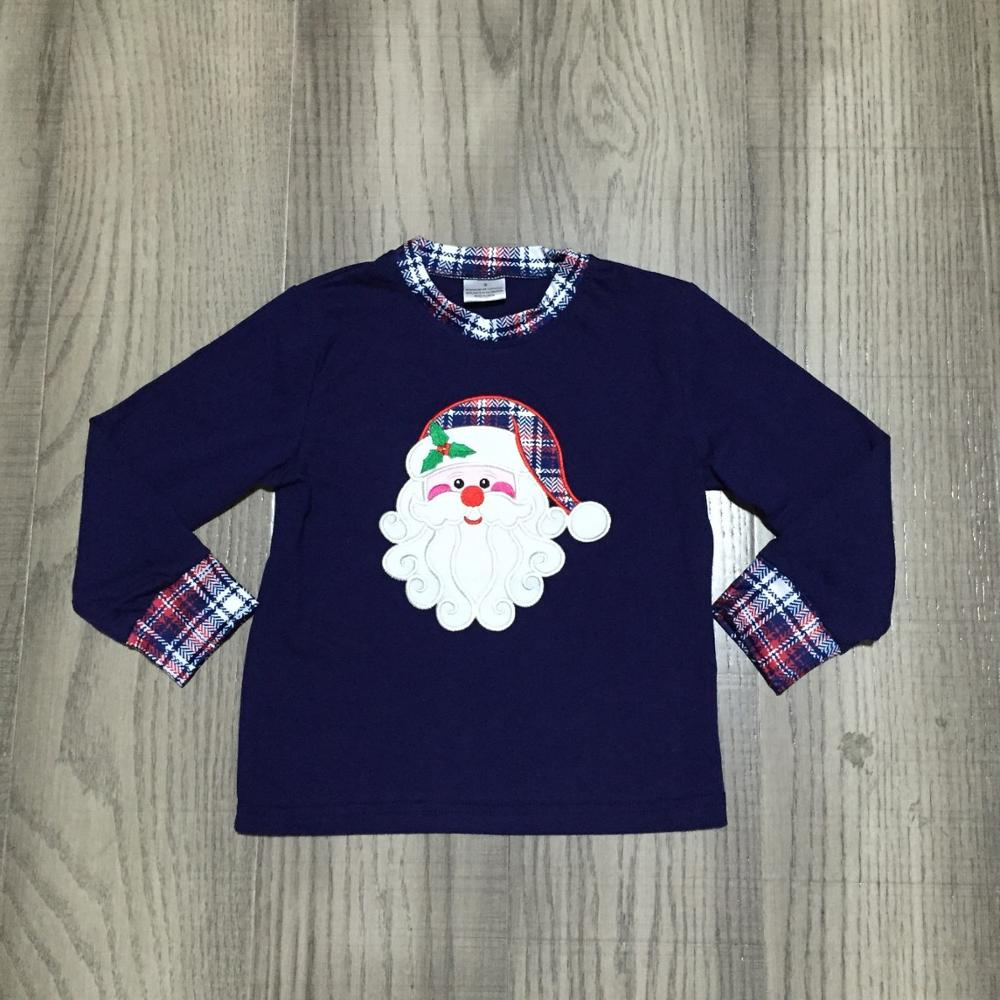 Girlymax Christmas Fall/Winter baby Boys Santa Claus Snowman Camo Plaid boutique t-shirts clothes cotton top raglans long sleeve 4