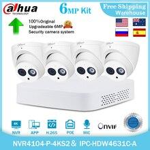Dahua 4K Surveillance 4CH 8CH POE IP Camera Kit 6MP IPC-HDW4631C-A NVR4104-P-4KS2 H265 Onvif CCTV Video Recorder Security System