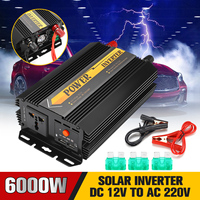 Dual USB Max 6000 Watts 3000W Power Inverter DC 12 V to AC 220 Volt Car Adapter Charge Converter Modified Sine Wave Transformer