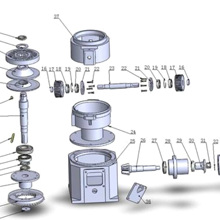 Ролик, вал, высечка, матрица, ось, подшипник KL150 машина для прессования гранул мельница