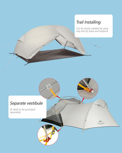 Image 2 - 3 stagione Mongar Tenda Da Campeggio Nylon Fabic A Doppio Strato Impermeabile Tenda per 2 Persone Ultralight Tenda Tende Da Campeggio Allaperto
