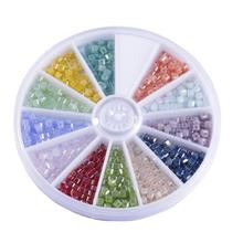 600pcs/set 2MM Square Glass Beads Loose DIY Bracelet Neclace Jewelry Findings&Components