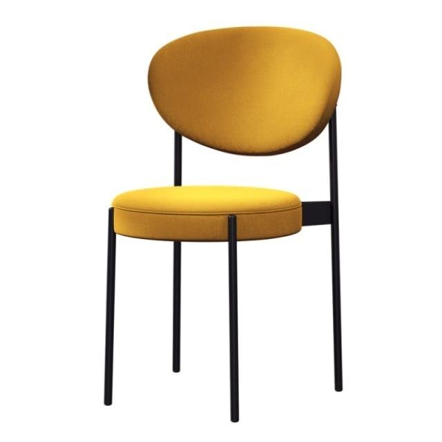 Nordic Iron Family Dining Chair  Room  Modern Simple Soft Bag Leisure  Desk  Light Luxury Armchairsgabelli Bar Stool