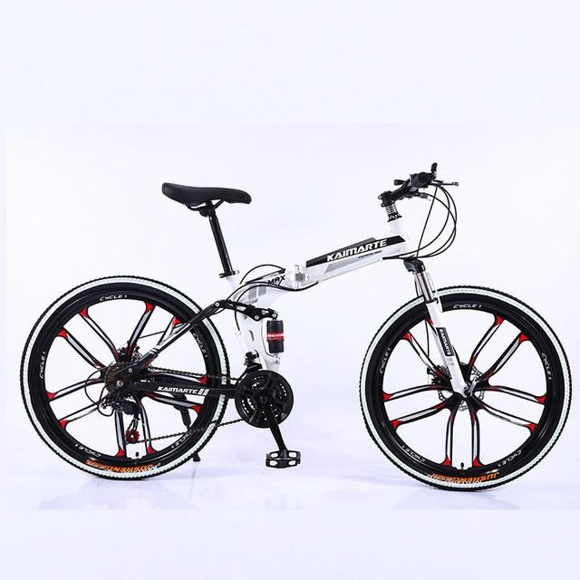 Heavy Duty Folding Mountain Bike 6