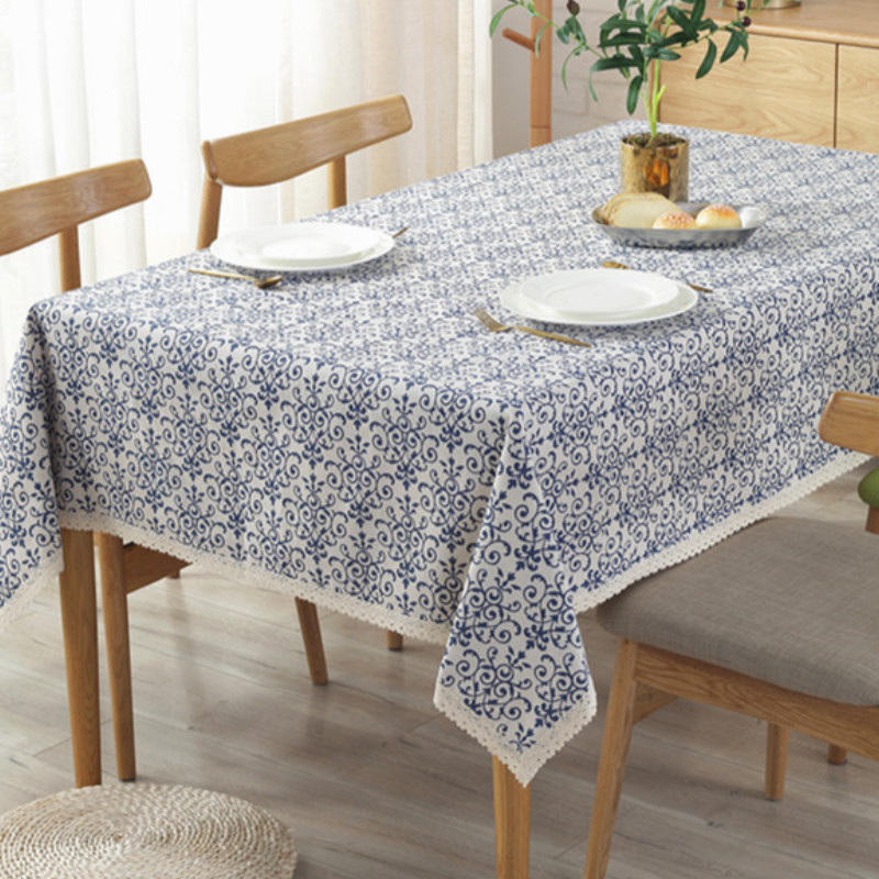 Vintage Printed Cotton Linen Fabric Tablecloth Sews Upholstery Craft Material