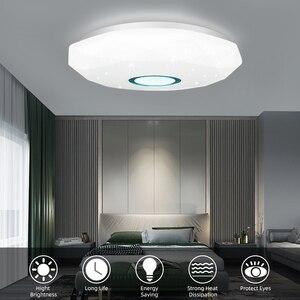 Image 2 - LED Ceiling Light 72W 36W Down Light Surface Mount Panel Lamp AC 220V 3 Colors Change Modern Lamp For Home Decor Lighting