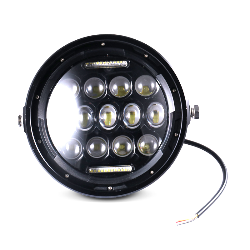 lowest price 6 5   Motorcycle Cafe Racer Vintage Universal LED Protection Headlight High Low Beam For Harley Choppers Custom Honda Yamaha