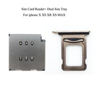 10set/lot New Sim Card Reader+Sim Tray For iPhone X XS XR XS MAX black/silver/gold