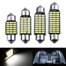 цена на Car Interior Light 2pcs  C5W Festoon Mirror Dome Reading Door Number Lamp 31mm 36mm 39mm 41mm SMD 3014 LED Canbus No Error White