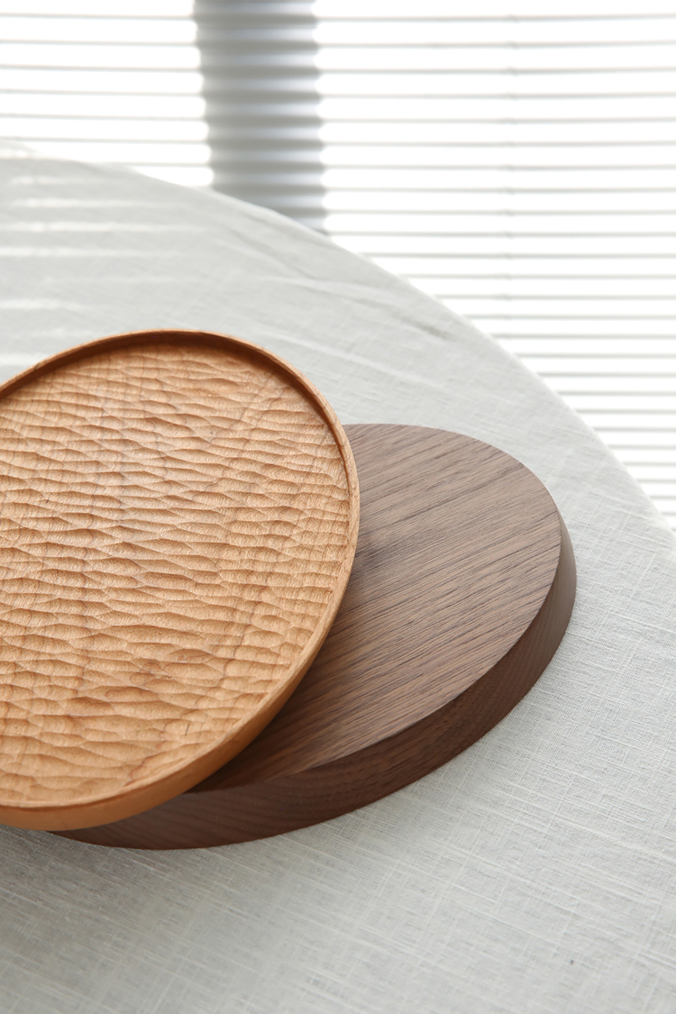 Nordic-Dessert-Plate-Wooden-Serving-Tray-Afternoon-Tea-Time-Coffee-Cake-Plates-Hexagonal-Round-Desserts-Food-Organizer-Platter-06
