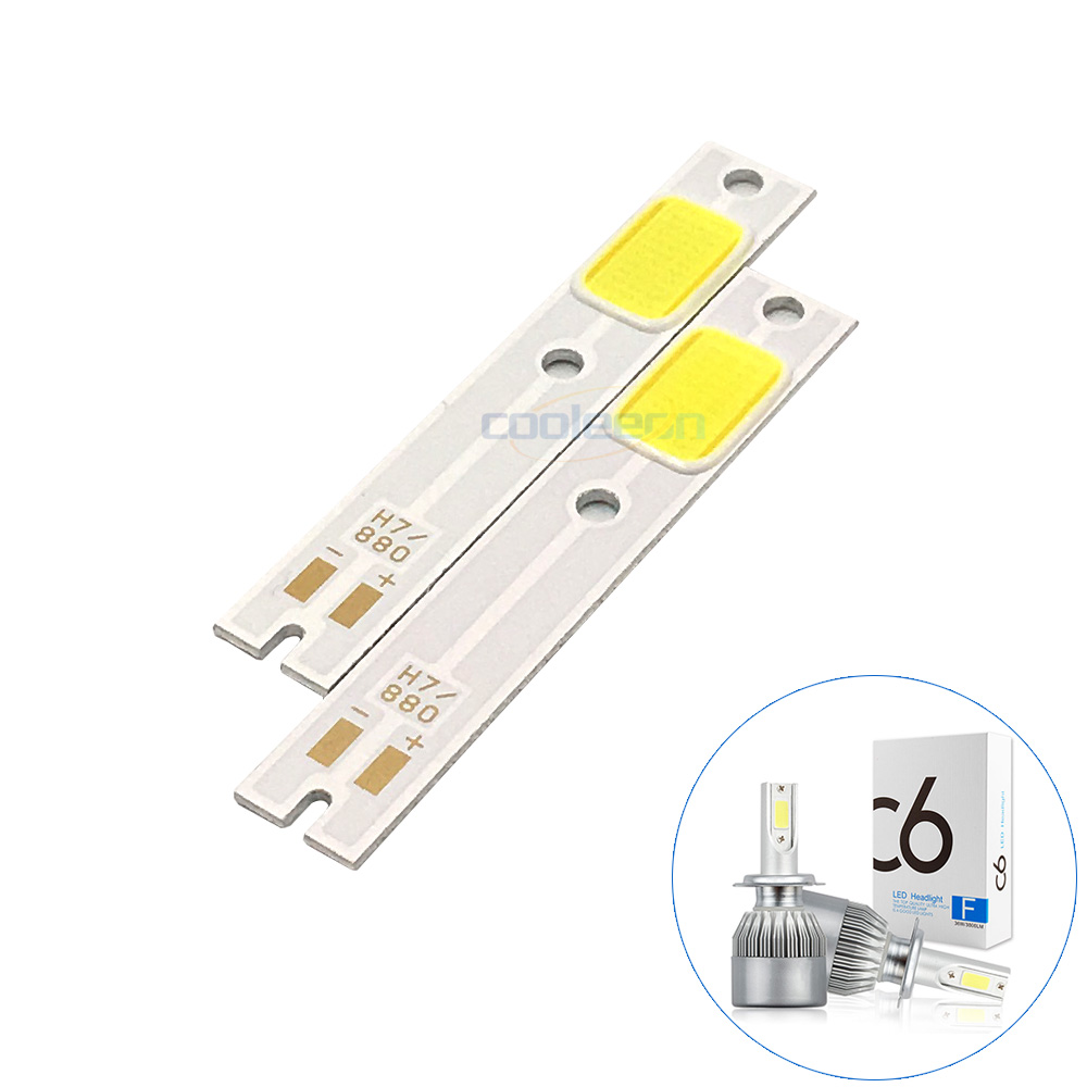 2pcs/lot H1 H3 H4 H7 COB LED For C6 Car Headlight Bulbs Chip H11 880 9005 9006 9012 COB Light Source Replace C6 Auto Headlamps