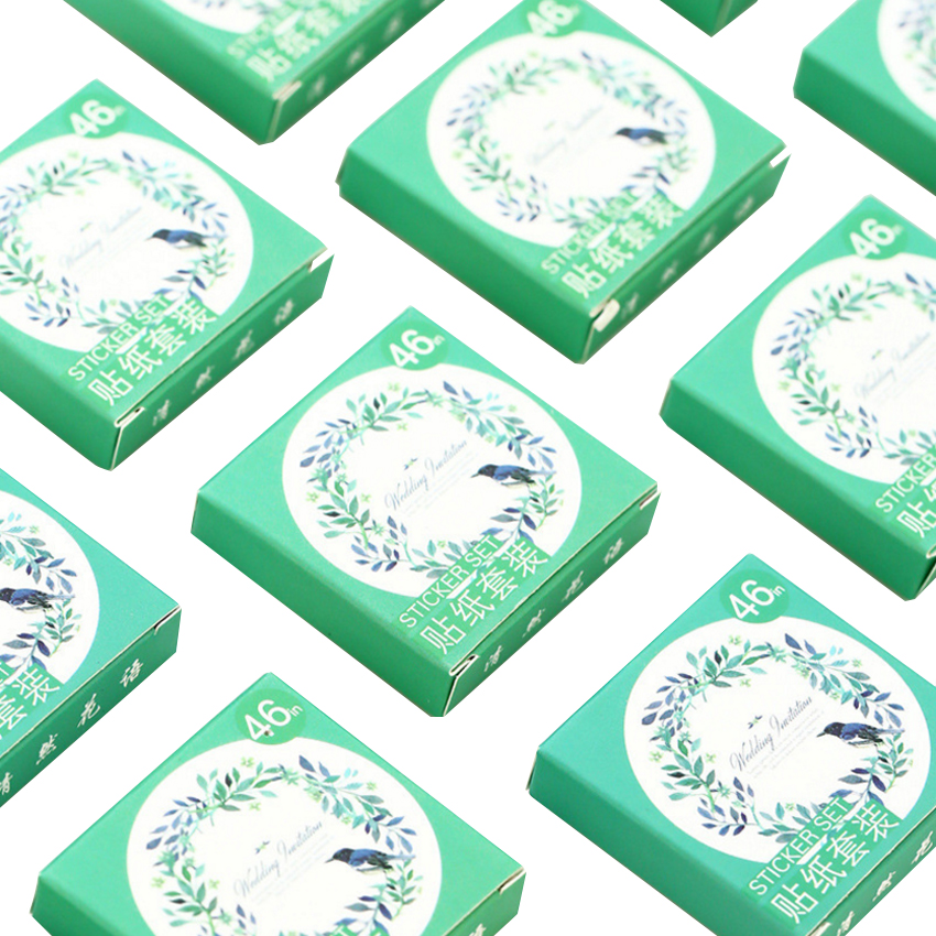 46pcs/box Fresh Flowers Whisper DIY Decorative Scrapbooking Stickers Diary Album Sticker Label Phone Seal Stickers