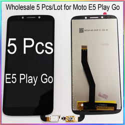 WholeSale 5 Pcs/lot for Moto E5 PLAY Go LCD Screen Display with Touch Digitizer Assembly XT1920 XT1921