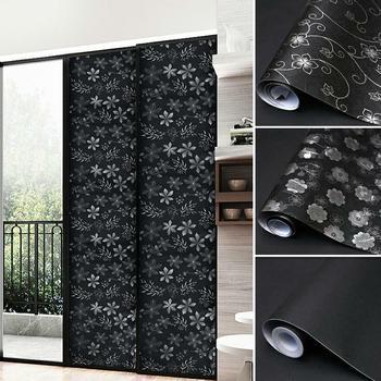 Rimovibile blocco della luce statico totale Blackout pellicola per vetri Privacy camera oscuramento finestra tinta nero adesivo per finestre 50X100cm