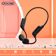 AIKSWE Bone Conduction Headphones Bluetooth Sports Wireless Surround Sound Earphone Stereo With Microphone For Running Cycling