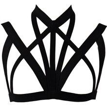 Gothic Bondage Sexy Lingerie Punk Rave Body Harness Bra Coachella Festival Cage Black